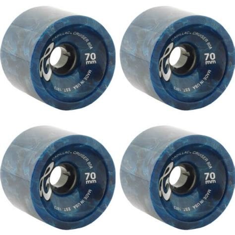 Cadillac Wheels Skateboard by Cadillac Wheels Cruiser Blue Marble Longboard Skateboard