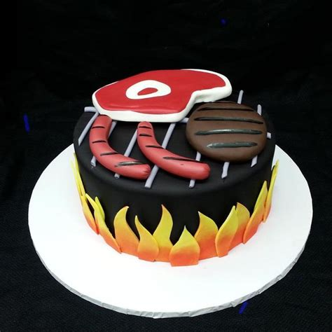 bbq grill cake  craftsy member calfon cake
