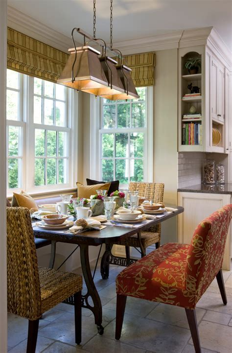 Pretty breakfast nook bench in Dining Room Traditional