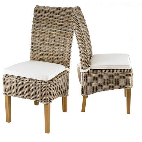 chaise ée 50 chaise en kubu tressé galette lot de 2 zago store