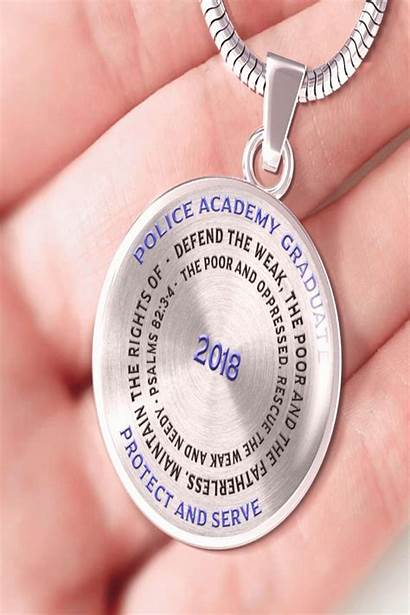 Graduation Mywebtrend Necklace Police