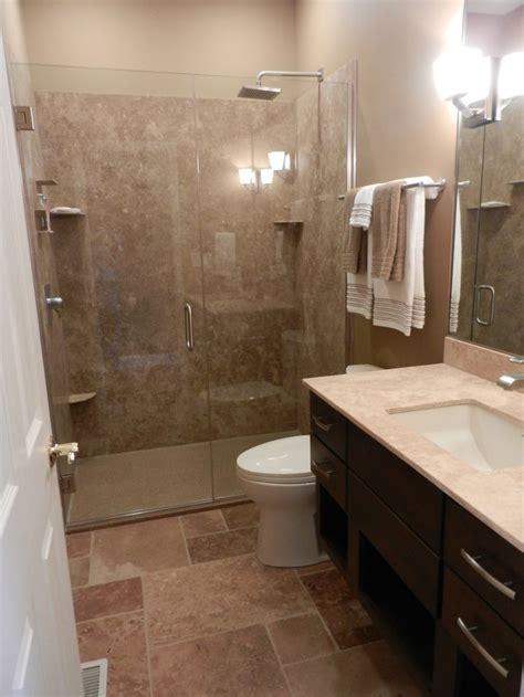 guest bath heavy glass shower door opens   bathroom