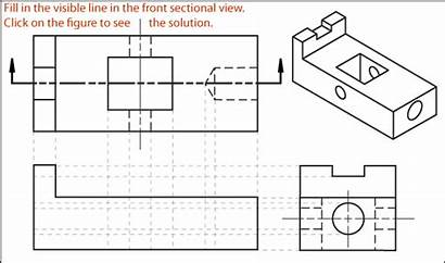Section Drawing Sectional Engineering Exercises Exercise Views