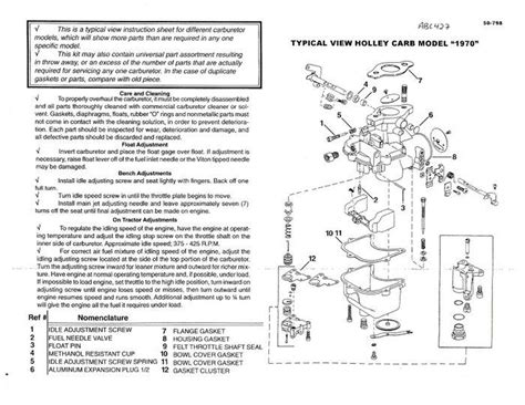 Ford Cyl Holley Carburetor