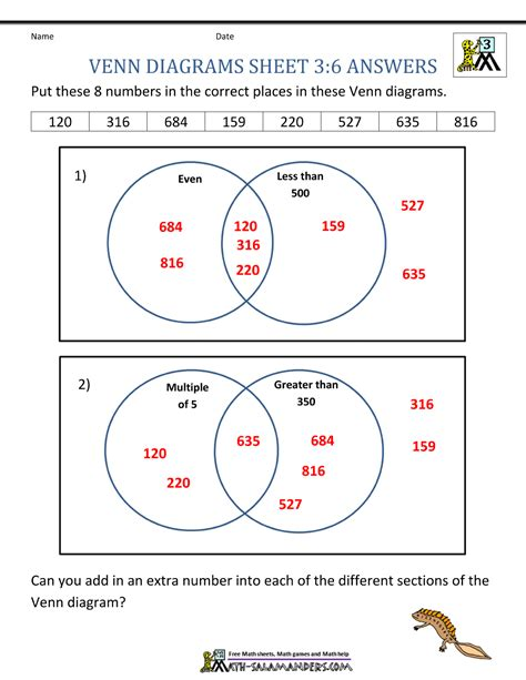venn diagram math worksheets 2nd grade venn diagram for