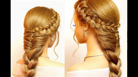 easy hairstyles  long hair cute braids tutorial youtube