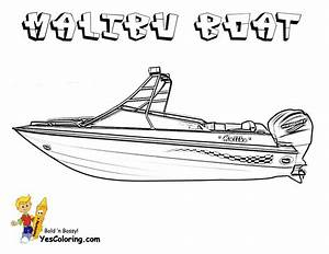 Rugged Boat Coloring Page