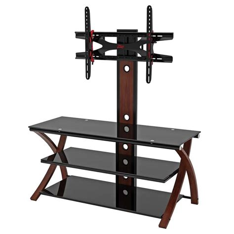 z line designs z line designs makena 3 in 1 black glass 60 tv stand with
