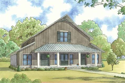 garage with living space barn style house plan 1014 barnwood manor ndg