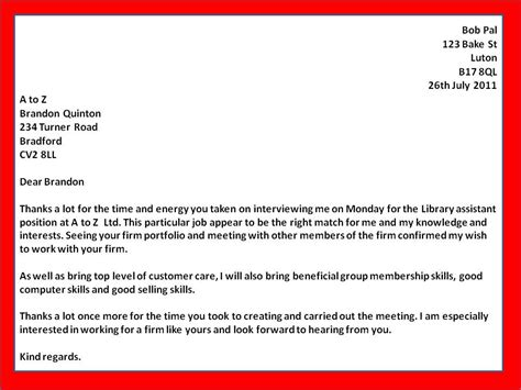 job  interview   letters template