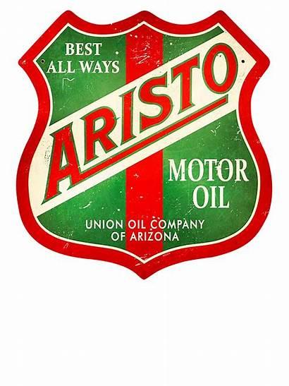 Oil Motor Aristo Signs Metal Gas Company