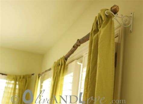 A Rustic Tree Branch Curtain Rod Cotton Window Curtains India Uk Made To Measure Make Blackout Lining Steiner Welding Curtain Roll Contemporary Kitchen Treatments Definition Of In Drama Ideas Bedroom Target