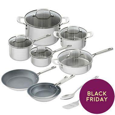 sams club emril  piece stainless steel cookware set black friday deal cookware set