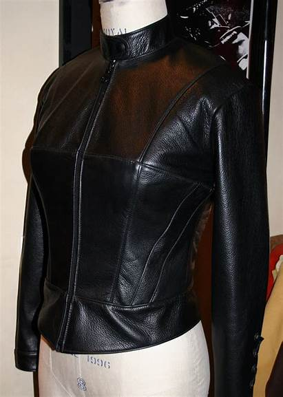 Motorcycle Jacket Corset Cafe Racer Leather Womens