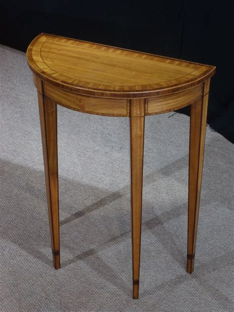 small antique console table satinwood table demi lune table antique tables uk antique side