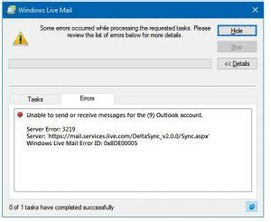 how to solve windows live error id 0x800ccc0e issue techyv