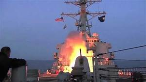 U.S. Navy Destroyer launches Tomahawk cruise missiles ...