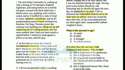 #ged ® Reading Test Lesson Jane Eyre Youtube