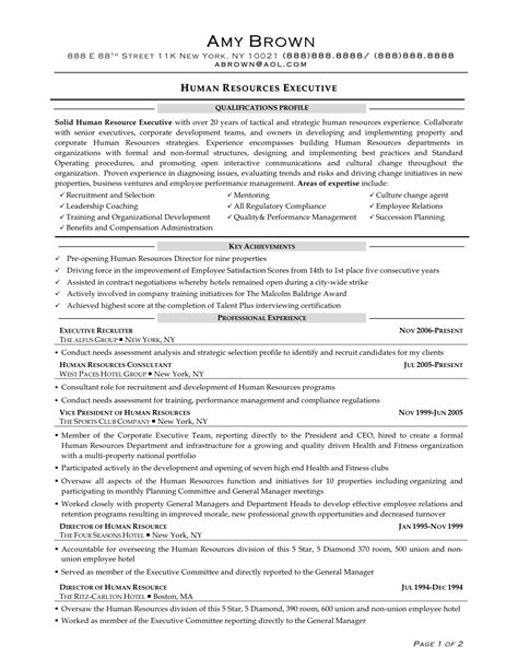 sle hr generalist resume template resume sle