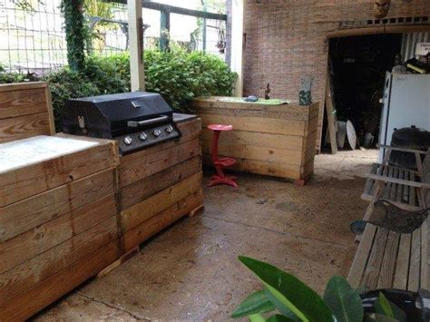 outside kitchens ideas most interesting outdoor kitchen made from pallets