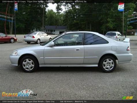 1999 Honda Civic Ex Coupe Vogue Silver Metallic / Dark