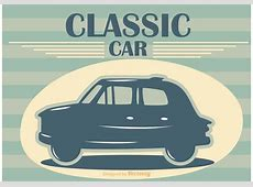 Classic Car Vector Poster Download Free Vector Art