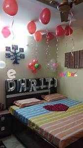 simple, room, decoration, for, surprise, birthday, party, in