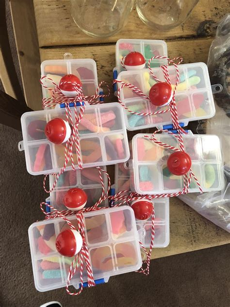 mini tackle boxes   fishing theme party