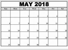May 2018 Calendar Excel Free Download Editable Templates