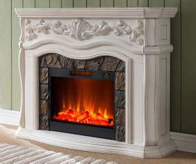 grand white electric fireplace big lots