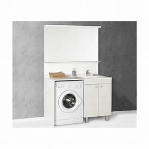 salle de bain meuble avec espace lave linge pratique et With meuble salle de bain lave linge