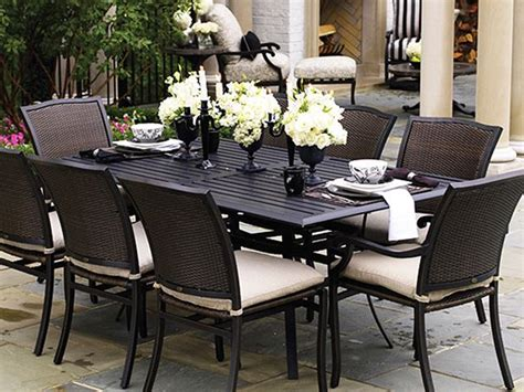 wicker outdoor dining sets for luxury house garden
