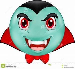 Cartoon Vampire Smiley Emoticon Stock Vector - Image: 46948107