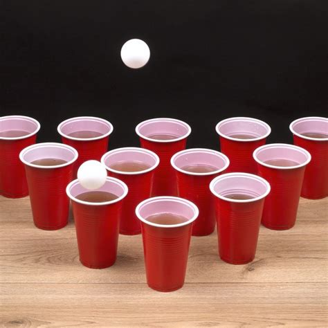 beer pong set  cups  balls