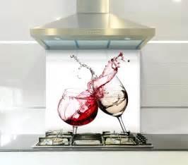 splashback ideas for kitchens white wine printed kitchen toughened glass splashback