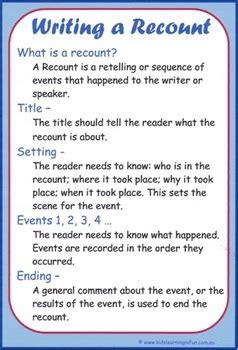 writing  recount cheat sheet  kids learning  fun tpt