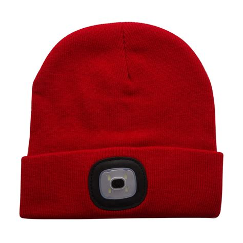 beanie with light 4led knit hat flashlight cap for outdoor climbing fishing