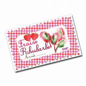 Mes étiquettes Gratuites à Imprimer : etiquettes pour confiture de fraise rhubarbe dans mon bocal ~ Nature-et-papiers.com Idées de Décoration