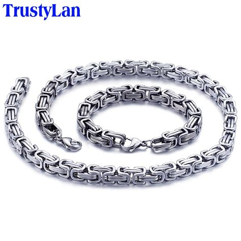 trustylan cool bracelet  men women mm thick link