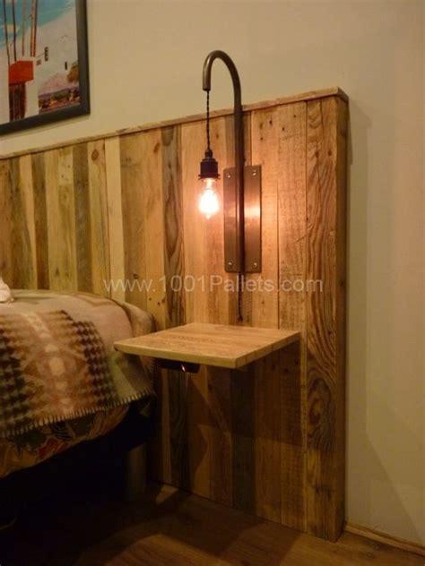 chambre en palette pallet bed headboard with lights tête de lit en palettes
