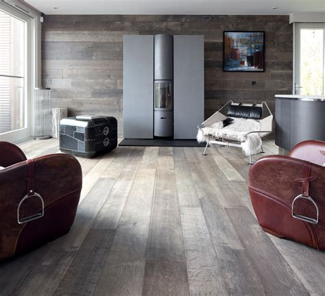 Bespoke Old Grey Natural Wood Flooring / Real Solid Oak