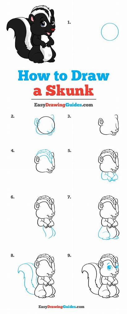 Skunk Draw Drawing Tutorial Easy Really
