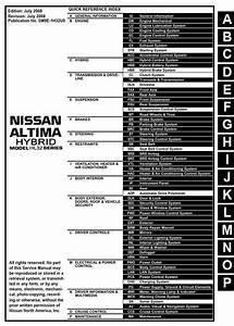 Nissan Altima Hybrid Model L32 Series 2009 Service Manual