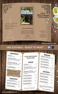 design templatestri fold take out menu menu templates With menu with pictures template
