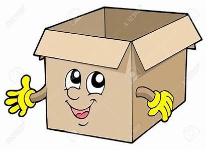Box Cardboard Open Illustration Vector Amazing Cartoon