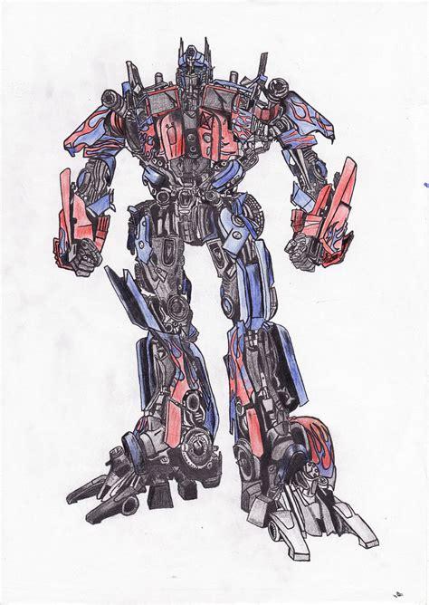 optimus prime drawing  megjessy  deviantart