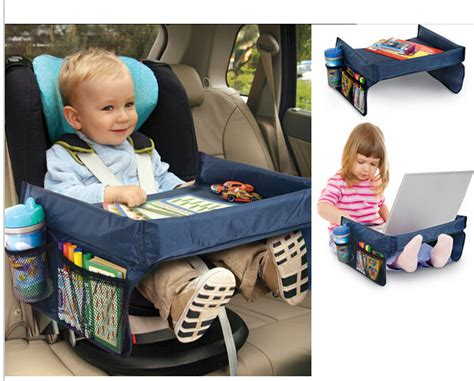 doll booster seat for table new kids car organizer child car seat tray waterproof