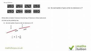Probability Igcse  Gcse Exam Question Sample Space Diagram Part 5