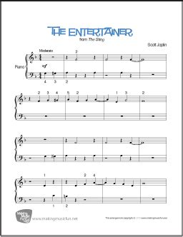 The entertainer is still today by far the most famous and recognizable ragtime song in the world. The Entertainer (Joplin) | Beginner Piano Sheet Music (Digital Print)