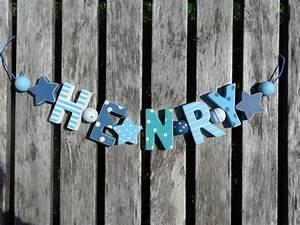 Buchstaben Deko Kinderzimmer : henry namenskette shabby chic holz buchstaben holzbuchstaben taufe geburt deko kinderzimmer ~ Orissabook.com Haus und Dekorationen